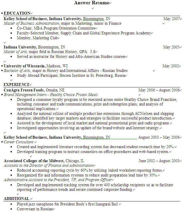 general resume layout resume format 2017